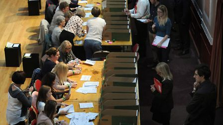 The Election count in Clacton gets underway in October