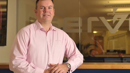 Rob Legge, Servest's chief executive for the UK and Europe, at the company's headquarters at Fornham