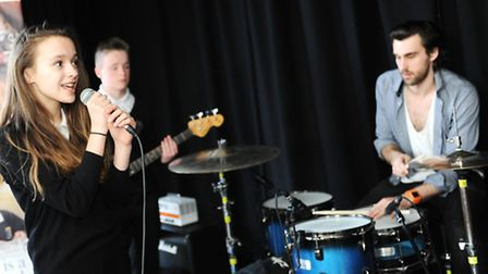 """Claydon high school students take part in Rock Band workshop day led by """"underline The Sky"""""""