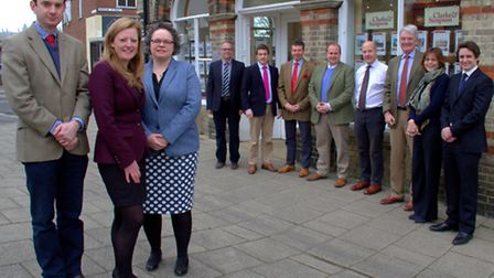 The Agricultural team at Clarke and Simpson in Framlingham with the three newest members of the team