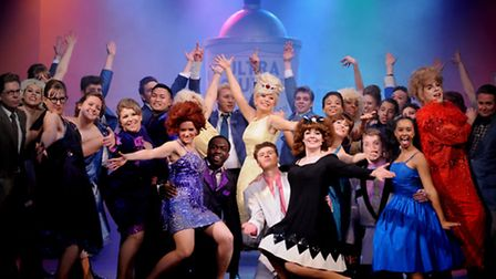 The rousing production of Hairspray, on stage at the Theatre Royal, in Bury St Edmunds, with the Irv