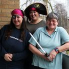 From left to right, Sam Willson, Christine Atkinson and Tracy Williams