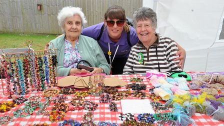 Cedrus House's Edith Lawson, Chelsea Sturman and Jean Brown. Photo: Hartismere Place care home