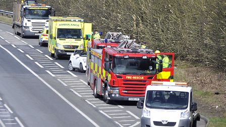 Police closed the A133 between Colchester Road and Progress Way near Clacton on Wednesday while emer