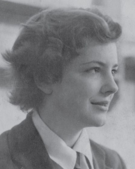 Christine at boarding school in 1953, happy to have escaped the atmosphere at home.