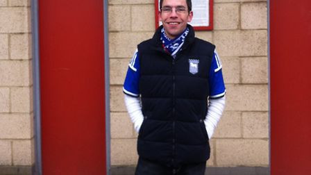 Ipswich Town fan and coach steward James Hacker, who has visited 91 of the 92 current Football Leagu