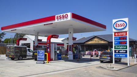 The new service station and Budgens store in Halreston. Picture: Ian Carstairs