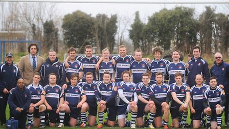 Sudbury v Beccles Rugby. Sudbury win the title.