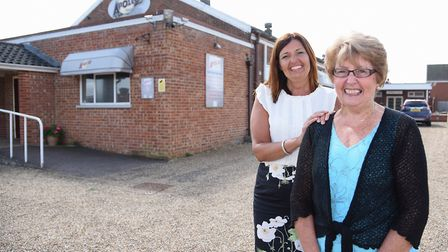 Owners Anne Jary and her daughter, Belinda Farmer, at the Apollo Club at Harleston before it closed.