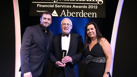 The presentation of the Small Company IFA of the Year award to Fiducia Wealth Management at the Mon