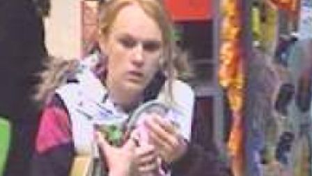The CCTV image police have issued following the theft of bed linen from the Wilkes Way Asda store in