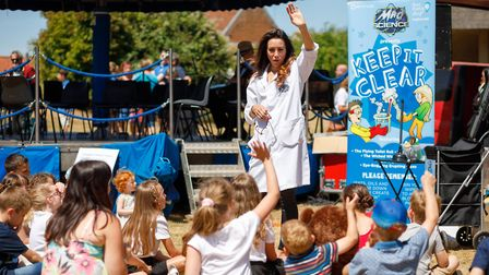 The Mad Science Show kept youngsters entertained. Picture: South Norfolk Council