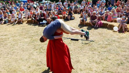 South Norfolk's strong woman shows off her strength and South Norfolk on Show. Picture: South Norfol