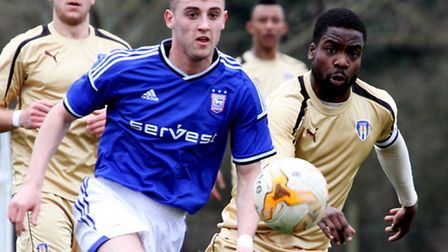 Dylan Connolly in action for Ipswich Town's Under-21s. Photo: JAMES AGER