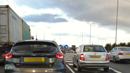 Queue jumping by impatient drivers is rude and dangerous.