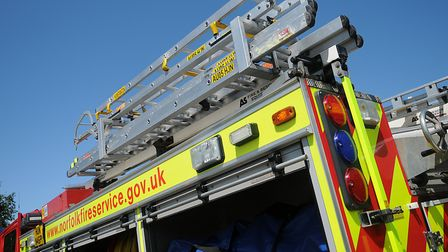 Crews were called to an open grass fire in Roydon. Picture: Chris Bishop