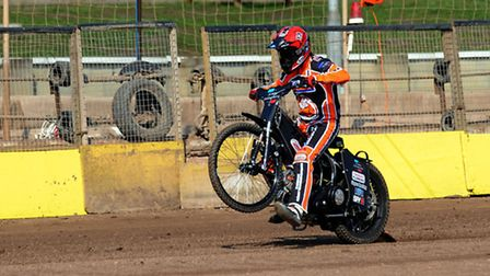 Daniel Halsey in practice at Mildenhall on Monday. Photo: PHIL MORLEY