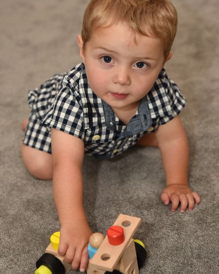 Jack Wright who has been diagnosed with a rare genetic disorder. Picture: Sonya Duncan