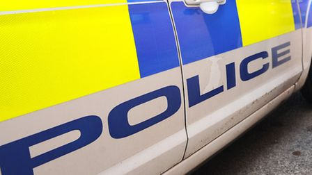 Police said a silver Volkswagen Golf drove into the officers parked vehicle at the A12/A1152 juncti