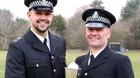 Alex Willson from Suffolk and Tony Russell from Norfolk police. Dog handlers