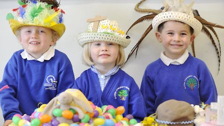 Pupils at Easton Primary School created homemade Easter bonnets.