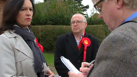 Labour MP Caroline Flint and Labour candidate David Ellesmere head out door knocking around the Prin