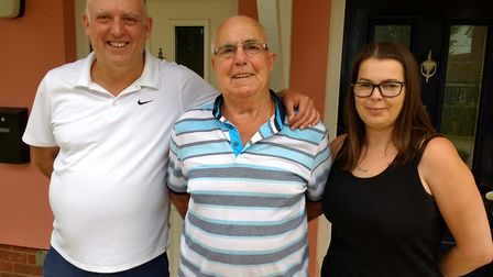 Three generations as next door neighbours: Darren, Terence and Laura Drum. Picture: Orwell Housing A