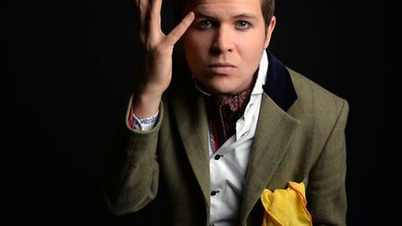 Suffolk poet Luke Wright in his current touring show Stay-at-Home Dandy. Photo by Steve Ullathorne