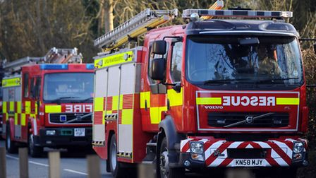 The fire broke out in a kitchen of a ground floor flat High Street North, West Mersea at 8pm.