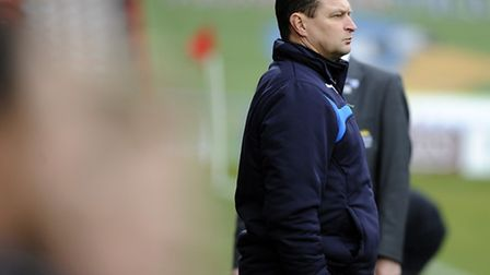 U's boss Tony Humes. who has this afternoon signed Richard Brindley on loan from Rotherham