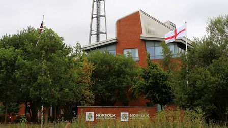 England flags are flying from Norfolk Police stations. Photo: Norfolk Police