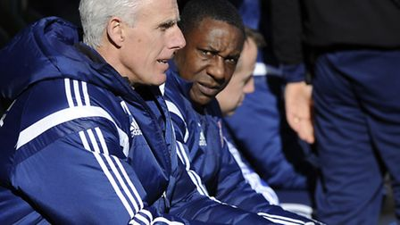 Ipswich Town boss Mick McCarthy and assistant Terry Connor