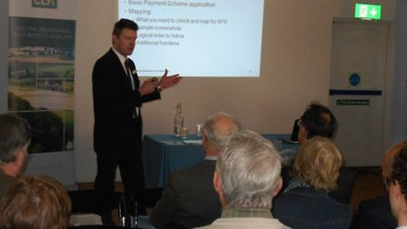 Keith Wellings, Head of Insight and Improvements at the Rural Payments Agency, speaking at the CLA a