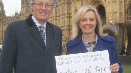 CLA President Henry Robinson and Environment Secretary Liz Truss launching the CLA's Pledge for a Th