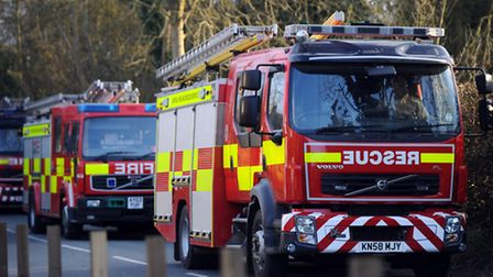 A blaze broke out in a bedroom at a property in The Keep, Haverhill at around 7.30pm. Police and thr