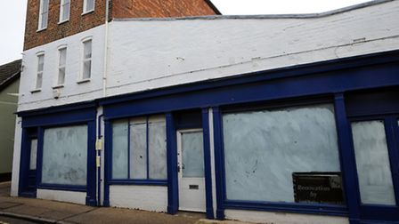 The former Motorspares shop in Guildhall Street, Bury.