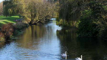 View of the river in Colchester at the bottom of North Hill.