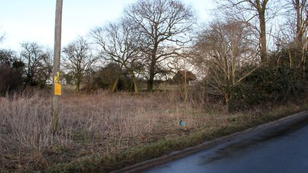 The land on Church Lane, Claydon where planning applications have been applied for to install carava