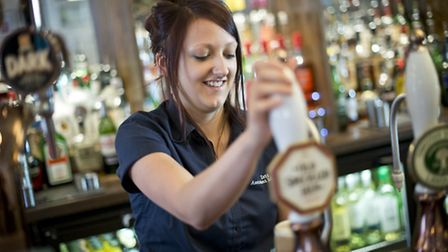 Isabelle Pearson, who has completed to apprenticeships with Greene King and now manages her own pub.