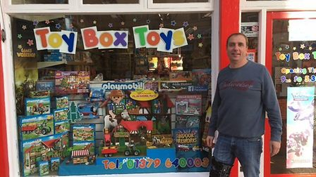 Roy Minshull at Toybox Toys in Diss. Picture: Stuart Anderson