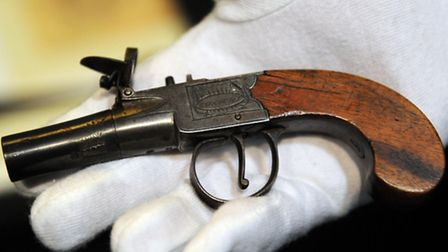 Moyses Hall Museum. One of William Corder's guns.