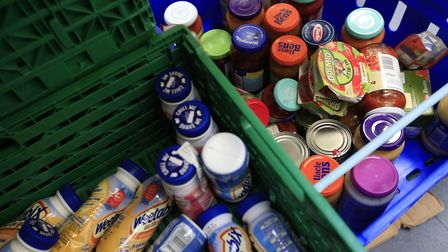 Stocks of food at a Foodbank. Picture: PA Archive/PA Images