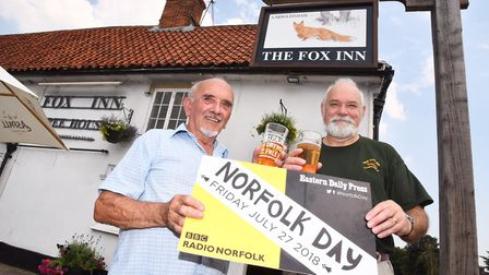 The Fox pub in Garboldisham celebrate the opening of their new kitchen and Norfolk Day. John William