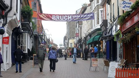 Bury is thriving as a shopping location. Abbeygate Street.