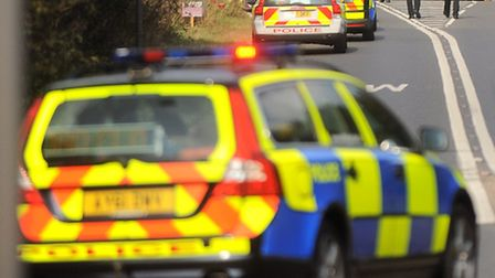 Police are at the scene of a collision on the B1106. File image.