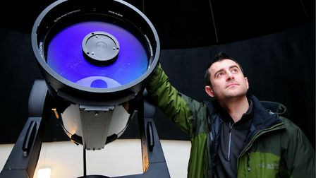 Astronomer Mark Thompson at Seething Observatory.