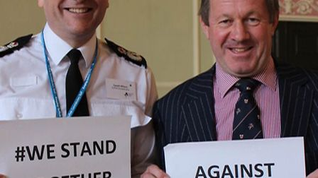 Temporary chief constable Gareth Wilson and police and crime commissioner Tim Passmore