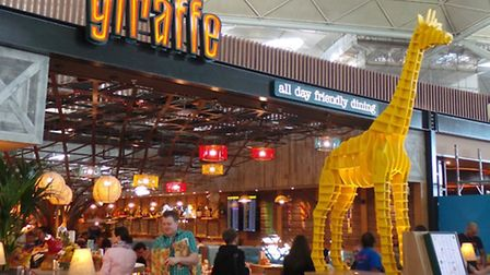 The new Giraffe restaurant at Stansted Airport.