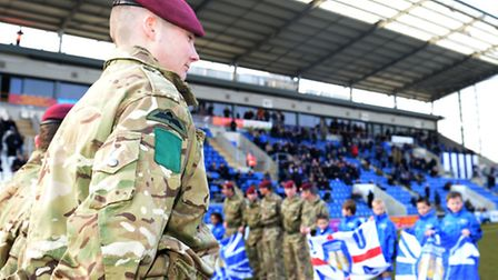 Colchester United signs the Armed Forces� Corporate Covenant