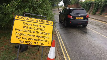 Frenze Hall Lane in Diss is to be closed from August 20 to 24. Picture: Simon Parkin